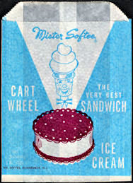 #PC118 - Group of 3 Mister Softee Cart Wheel Ice Cream Sandwich Bags