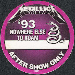 ##MUSICBP0137 - Metallica OTTO After Show Backstage Pass from Nowhere Else to Roam Tour