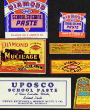 #ZBOT401- Group of 3 different Mucilage (Glue) Bottle Labels