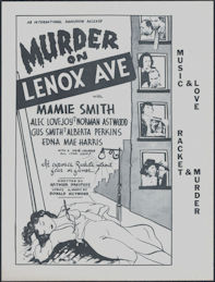 "#CH326-37 - Murder on Lenox Ave Movie Poster Broadside - ""100% Colored All Star Cast"""