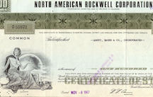 #ZZCE064 -North American Rockwell Corporation Stock Certificate