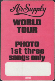 ##MUSICBP0008  - Air Supply Now and Forever Tour OTTO Backstage Pass