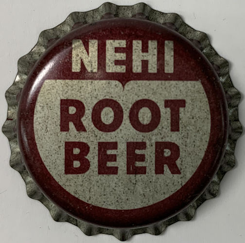 #BC126 - Group of 10 Cork Lined Nehi Root Beer Soda Caps