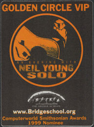 ##MUSICBP0887 - Neil Young/PHISH OTTO Cloth Backstage Pass from An Evening with Neil Young Solo