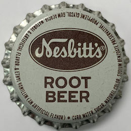 #BC216 - Group of 10 Nesbitt's Root Beer Cork Lined Soda Bottle Caps