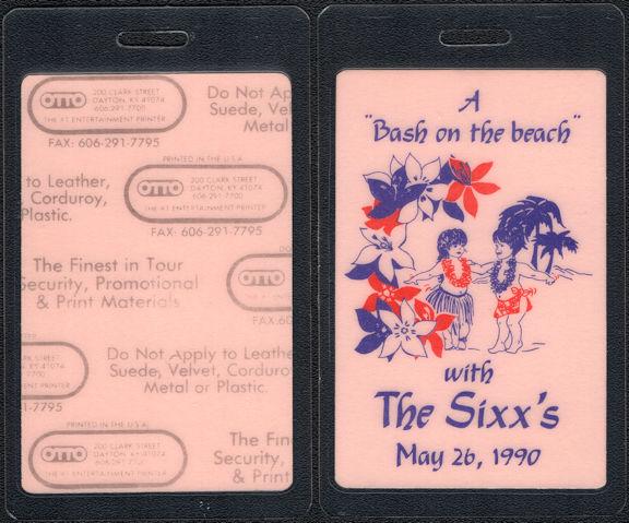 ##MUSICBP0817 - Rare Nikki Sixx (Motley Crue)/Brandi Brandt 1990 Wedding Reception OTTO Laminated Backstage Pass