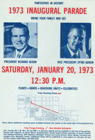 #PL141 - 1973 Nixon Inaugural Parade Map/Flyer