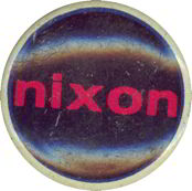 #PL165 - Black Background Nixon Pinback