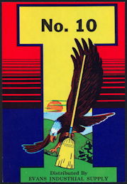 #ZLB047 - No. 10 Evans Broom Label - Eagle