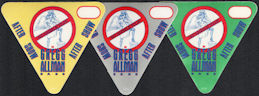 ##MUSICBP0105  - Group of 3 DIfferent Colored Gregg Allman After Show OTTO Cloth Backstage Passes - No Angels Tour