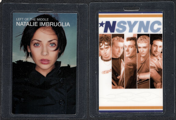 ##MUSICBP0575 - Uncommon NSync/Natalie Imbruglia Laminated OTTO Backstage Pass from the Left of the Middle Tour