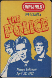 ##MUSICBP0739  - 1982 The Police at Nassau Coliseum 1982 OTTO Promo Backstage Pass - Radio WPLJ