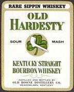 #ZLW109 - Old Hardesty Sour Mash Whiskey Label - Irish Theme