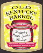 #ZLW091 - Old Kentucky Barrel Kentucky Bourbon Whiskey Label