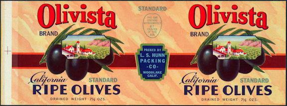 #ZLCA016 - Olivista California Olives Label