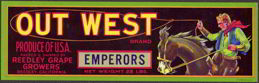 #ZLSG035 - Out West Grape Crate Label