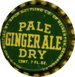 #BC034 - Group of 10 Early Spur Pale Dry Ginger Ale Soda Caps