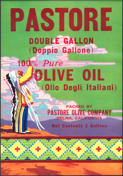 #ZLC045 - Pastore Olive Oil Label with Indian