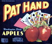 #ZLC145 - Pat Hand Apple Crate Label with Royal Flush