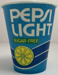 #SOZ122 - Sleeve of 100 1970s Waxed Pepsi Light Sugar-Free Water Cups