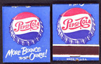 #TM035 - Full Unused Pack of  More Bounce to the Ounce Pepsi Matches