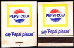 #TM103 - Full Unused Pack Front Cover Striker Pepsi-Cola Matches