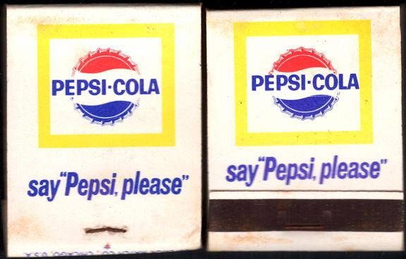 #TM103 - Full Unused Pack Front Cover Striker Pepsi-Cola Matches