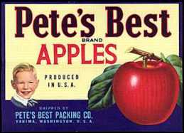 #ZLC024 - Pete's Best Apple Crate Label