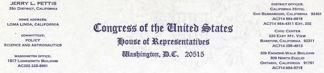 #PL199 - Jerry L. Pettis Congressman Letterhead