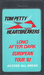 ##MUSICBP0255 - Tom Petty and the Heartbreakers Laminated OTTO Backstage Pass from the 1982 Long After Dark European Tour