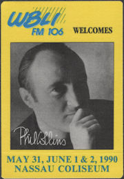 ##MUSICBP0721  - Scarce Phil Collins OTTO Cloth Radio Pass from the 1990 Concert at Nassau Coliseum