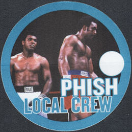 ##MUSICBP0763 - PHISH OTTO Cloth Backstage Pass featuring the Muhammad Ali George Foreman Boxing Match