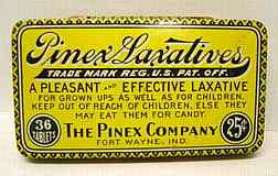 #CS004 - Group of 3 Pinex Laxative Tins