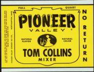 #ZLS094 - Pioneer Valley Tom Collins Mixer Soda Bottle Label