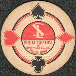 #DC230 - Group of 4 Rare Saleman Sample Milk Caps from the Piqua Cap Company