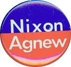#PL098 - Blue and Red Nixon Agnew Pinback