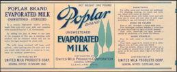 #ZLCA090 - Poplar Evaporated Milk Label