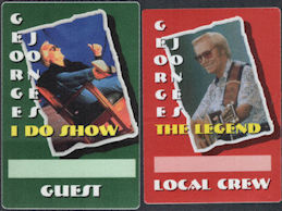 ##MUSICBP0006 - Group of 12 George Jones Backstage Passes - Last Backstage Pass Types Used by George Before His Death
