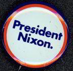 #PL123 - President Nixon Pinback - Red, White, Blue