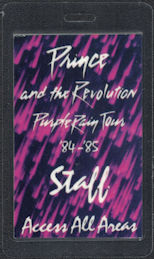 ##MUSICBP0581  - 1984/85 Prince Laminated OTTO Backstage Pass from the Purple Rain Tour - Purple Background