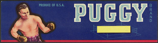#ZLSG041 - Puggy Grape Crate Label Picturing a Boxer