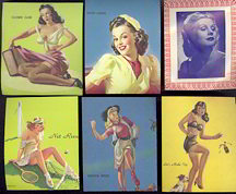 #PINUP038 - Group of 10 Different Punchboard Pinups