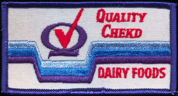 #DA097  - Quality Chekd Dairy Foods Cloth Patch