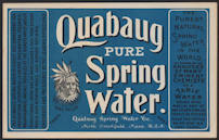 #ZLS183 - Quabaug Pure Sping Water Bottle Label - Quack Medicine