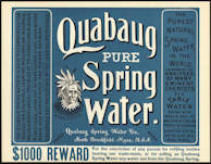 #ZLC322 - Huge Rare 1800s Quabaug Springs Bottle Crate Label - Quack Medicine Claims