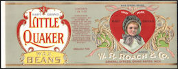 #ZLCA306 - Little Quaker Wax Bean Can Label - Valentines Day