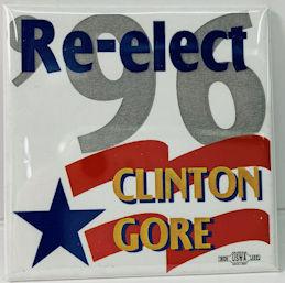 #PL361 - Re-Elect Clinton Gore 96 Pinback