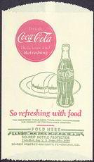#CC209 - Coca Cola Dry Server with a Burger and a Coke