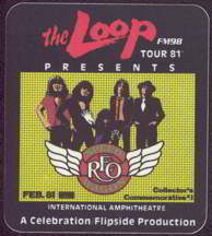 ##MUSICBP0021  - 1981 REO Speedwagon Radio Promo OTTO Commemorative Backstage Pass Chicago - Loop FM98