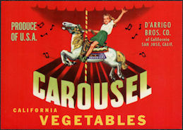 ZLSH400 - Group of 12 Carousel Vegetables Crate Labels